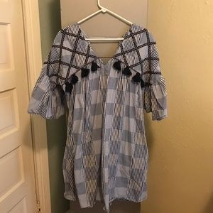 Anthropologie Maeve Tatum Embroidered Tunic Dress